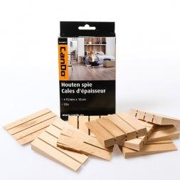 Cales d'épaisseur ou de nivellement en bois de hêtre CANDO